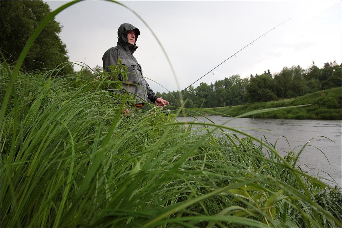 Рыбалка при дожде
