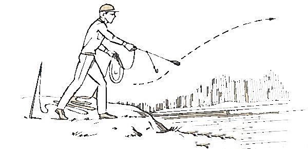 Рыбак с закидушкой