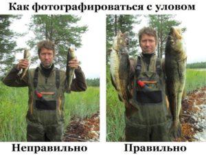 Фото рыбака с уловом