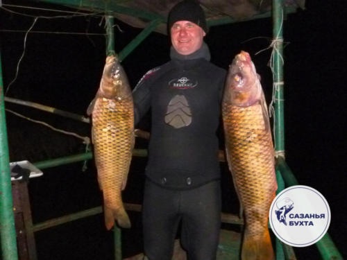 Ночная подводная рыбалка