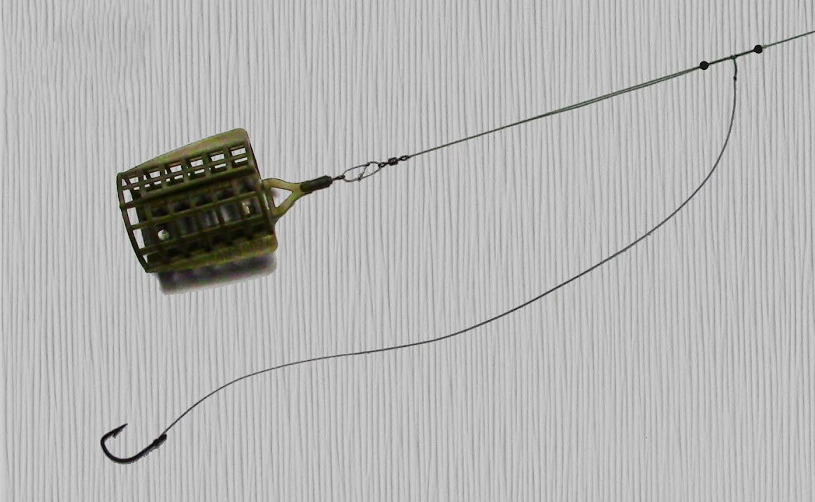 Фидерная оснастка - вертолет и два узла