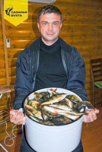 Ловля окуней на рыболовной базе