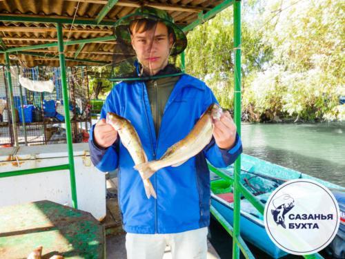 Рыбалка на базе летом